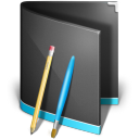 128x128px size png icon of Applications Folder Black