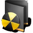 128x128px size png icon of Burn Folder Black