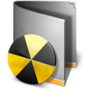 128x128px size png icon of Burn Folder