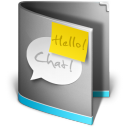 128x128px size png icon of Chat Folder