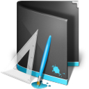 128x128px size png icon of Designs Folder Black