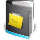 128x128px size png icon of Documents Folder Black