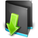 Downloads Folder Black Icon