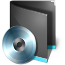 128x128px size png icon of Folder Music Black