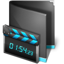 128x128px size png icon of Movie Folder Black