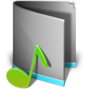 128x128px size png icon of Music Folder Alt