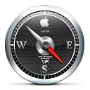 128x128px size png icon of Safari Black
