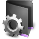 128x128px size png icon of Smart Folder Black