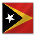 128x128px size png icon of East Timor flag