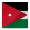 128x128px size png icon of Jordan flag