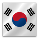 128x128px size png icon of South Korea flag