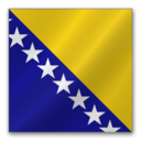 128x128px size png icon of Bosnia and Herzegovina flag