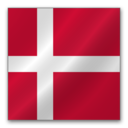 128x128px size png icon of Denmark flag