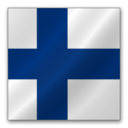 128x128px size png icon of Finland flag
