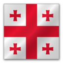 128x128px size png icon of Georgia flag
