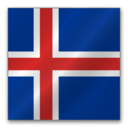 128x128px size png icon of Iceland flag