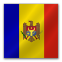128x128px size png icon of Republic of Moldova flag