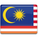 128x128px size png icon of Malaysia Flag
