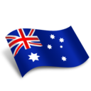 128x128px size png icon of Australia Flag