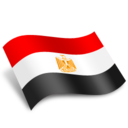 128x128px size png icon of Egypt Flag