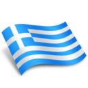 128x128px size png icon of Greece Ellas Flag