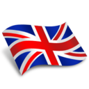 128x128px size png icon of UK Flag