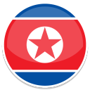 128x128px size png icon of North korea