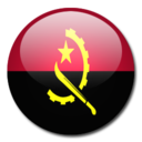 128x128px size png icon of Angola Flag