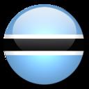 128x128px size png icon of Botswana Flag
