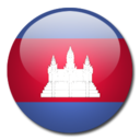 128x128px size png icon of Cambodia Flag