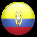 128x128px size png icon of Ecuador flag