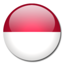 128x128px size png icon of Indonesia Flag