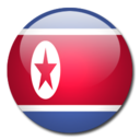 128x128px size png icon of North Korea Flag