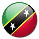 128x128px size png icon of Saint Kitts and Nevis Flag