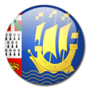 128x128px size png icon of Saint Pierre and Miquelon Flag