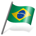 128x128px size png icon of Brazil Flag 3