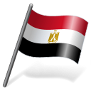 128x128px size png icon of Egypt Flag 3