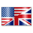 128x128px size png icon of English Language Flag 1