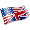 128x128px size png icon of English Language Flag 2