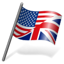128x128px size png icon of English Language Flag 3