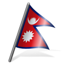 128x128px size png icon of Nepal Flag 3