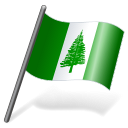 128x128px size png icon of Norfolk Island Flag 3