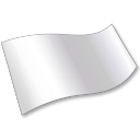128x128px size png icon of Solid Color White Flag 2