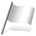 128x128px size png icon of Solid Color White Flag 3