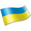 128x128px size png icon of Ukraine Flag 2