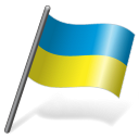 128x128px size png icon of Ukraine Flag 3