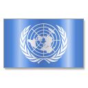 128x128px size png icon of United Nations Flag 1