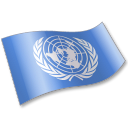 128x128px size png icon of United Nations Flag 2