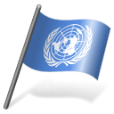 128x128px size png icon of United Nations Flag 3