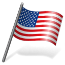 128x128px size png icon of United States Flag 3